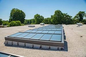 90 VELUX Modular Skylights on Rooftop