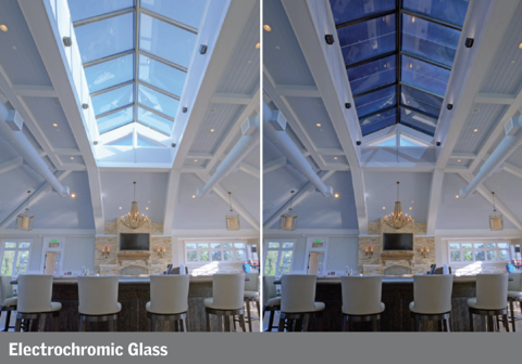 electrochromic glass glazing side by side comparison