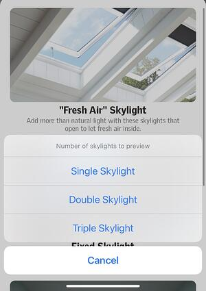 Visualizer app - number of skylights
