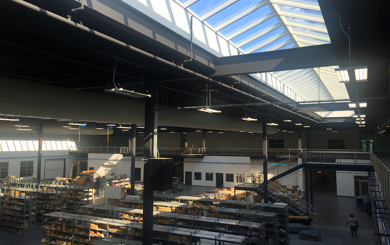 Ridgelight Skylight Installed in Industrial Space
