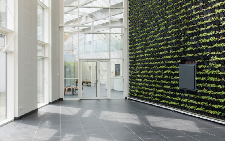 Green House Solution Atrium with Skylights and Green Wall
