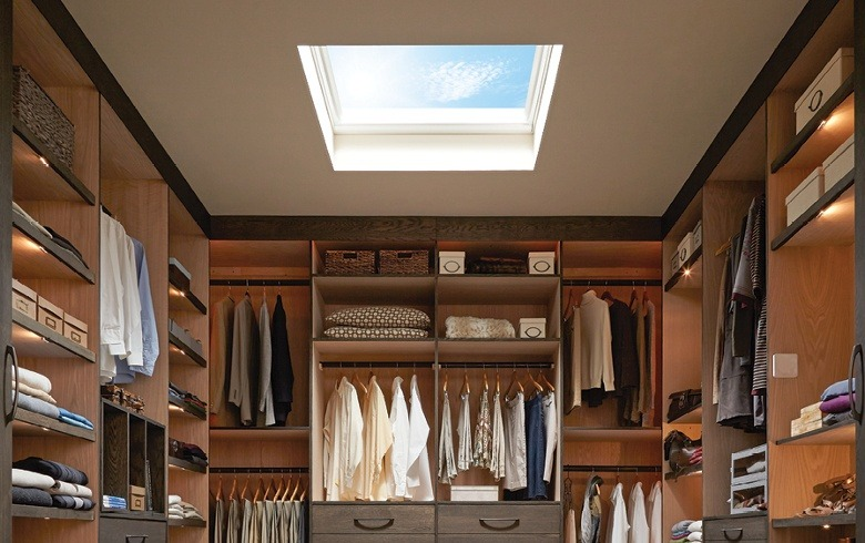 skylight in closet