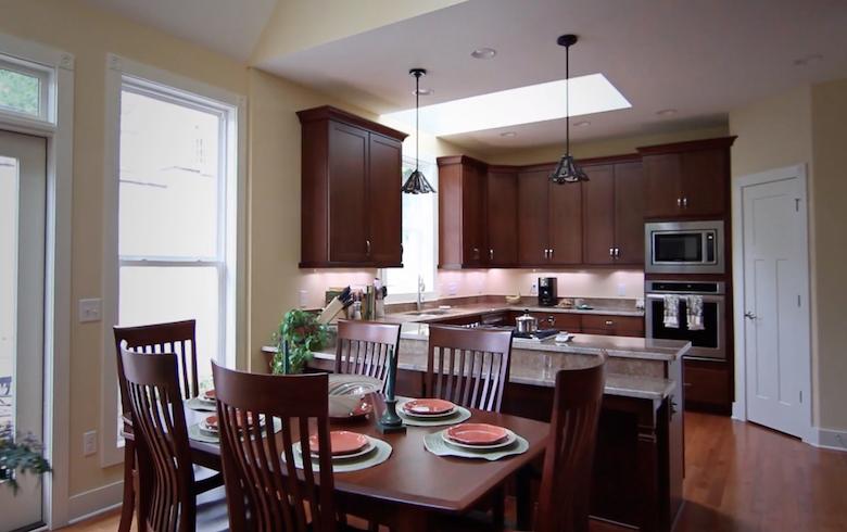 Hope Street kitchen with skylight